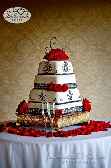 Red Roses Wedding Cake Decoration in Winston Salem NC, Arcadia Flower ...