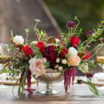 Burgandy and Blush wedding centerpiece by Eliana Nunes Floral Design